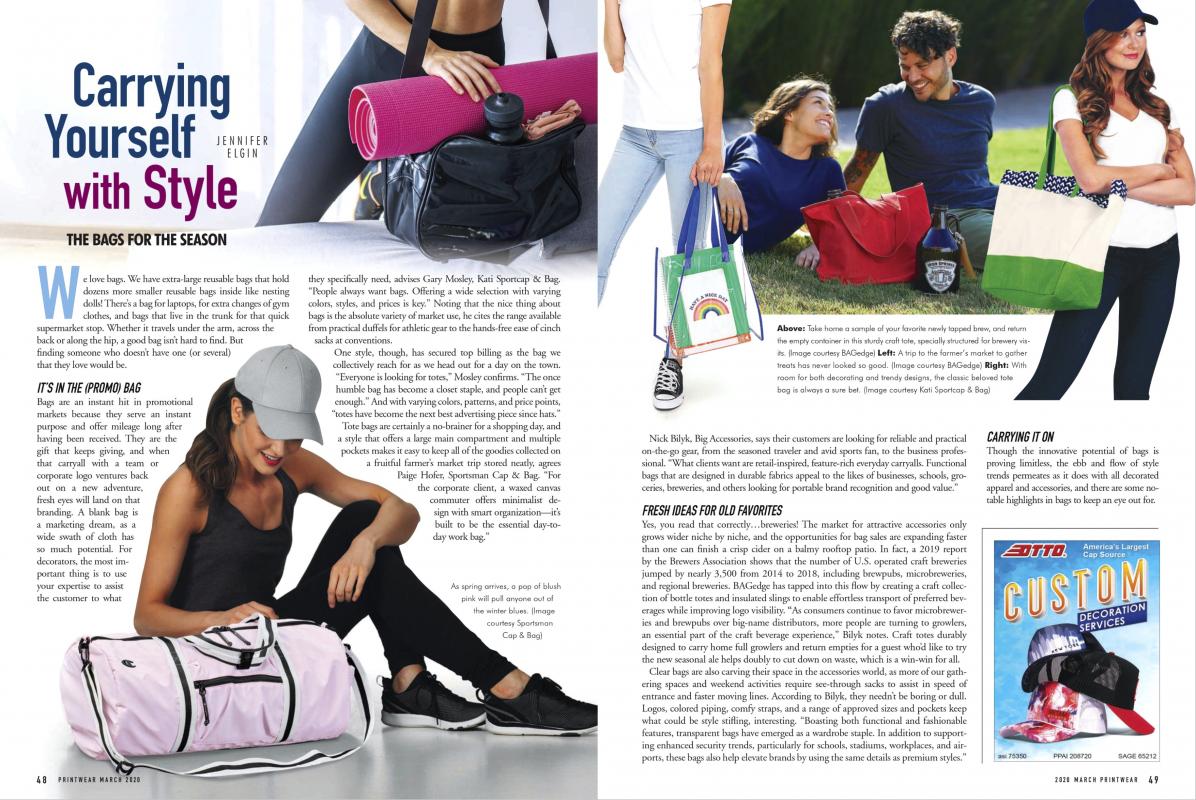 Printwear magazine's bags layout