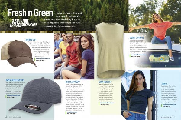 Printwear Magazine spread
